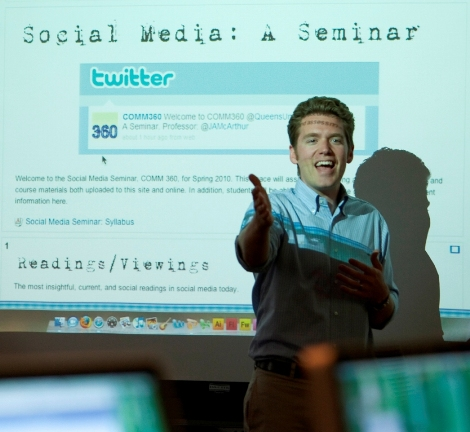 JAMcArthur speaking on social media