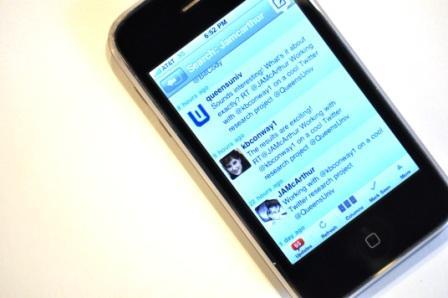 iPhone capture of researcher tweets