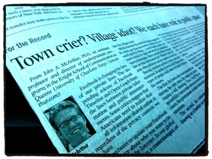Charlotte Observer - McArthur Op-Ed, Sept. 30, 2011